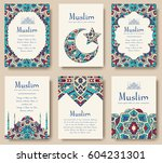 set of turkish flyer page... | Shutterstock .eps vector #604231301