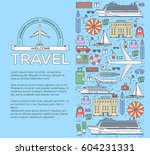tourism infographic concept... | Shutterstock .eps vector #604231331
