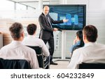 business training lecture... | Shutterstock . vector #604232849