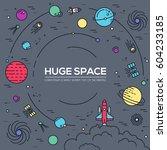 set of huge universe... | Shutterstock .eps vector #604233185