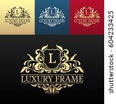 luxury label or king place... | Shutterstock .eps vector #604233425