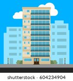 apartment building and city... | Shutterstock .eps vector #604234904