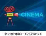 cinema festival or movie time... | Shutterstock .eps vector #604240475