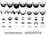 set of isolated vector facial... | Shutterstock .eps vector #604240724