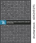 construction and industry icon... | Shutterstock .eps vector #604245191