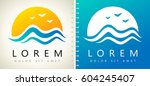 wave and sun logo | Shutterstock .eps vector #604245407