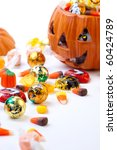 Scatter Halloween Candies And...