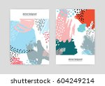 creative covers with abstract... | Shutterstock .eps vector #604249214