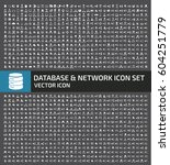 database and network icon set... | Shutterstock .eps vector #604251779