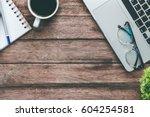 new jobs concept    top view of ... | Shutterstock . vector #604254581