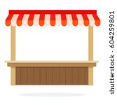 empty vegetable trading kiosk... | Shutterstock .eps vector #604259801