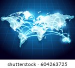 abstract of world network ... | Shutterstock .eps vector #604263725