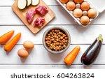 ingredients for pet food... | Shutterstock . vector #604263824