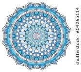 mandala flower decoration ... | Shutterstock .eps vector #604265114