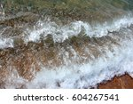 clean clear sea water and fine... | Shutterstock . vector #604267541