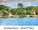 cityscape of miami  located...   Shutterstock . vector #604277861