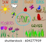 spring is in the air. hand... | Shutterstock .eps vector #604277939
