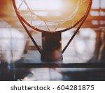 view from bottom of basketball... | Shutterstock . vector #604281875
