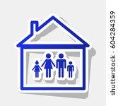 family sign illustration.... | Shutterstock .eps vector #604284359