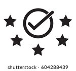 best rating  five start rating. ... | Shutterstock .eps vector #604288439