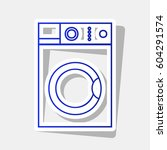 washing machine sign. vector.... | Shutterstock .eps vector #604291574