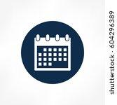 calendar icon | Shutterstock .eps vector #604296389
