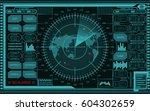 abstract digital teal radar...   Shutterstock .eps vector #604302659