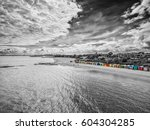 black and white aerial view of... | Shutterstock . vector #604304285