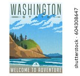 Washington State Travel Poster...