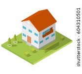 Isometric House With A Long...