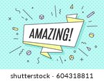 ribbon banner with text amazing ... | Shutterstock .eps vector #604318811