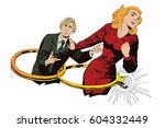 stock illustration. people in... | Shutterstock .eps vector #604332449