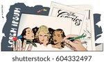 stock illustration. people in... | Shutterstock .eps vector #604332497