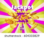 word jackpot  above a light... | Shutterstock .eps vector #604333829