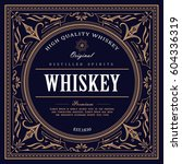 vintage design whiskey label... | Shutterstock .eps vector #604336319