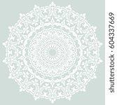 oriental light blue and white... | Shutterstock . vector #604337669
