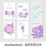 set of creative social media... | Shutterstock .eps vector #604339124