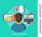 analysis system conceptual... | Shutterstock .eps vector #604341107