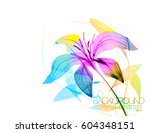 lily flowers scene vector... | Shutterstock .eps vector #604348151