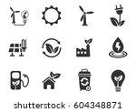 alternative energy web icons... | Shutterstock .eps vector #604348871