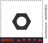 hex nut icon flat. simple... | Shutterstock .eps vector #604350821