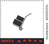 handcart icon flat. simple... | Shutterstock .eps vector #604352531