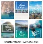lettering positive... | Shutterstock .eps vector #604353551