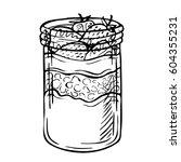 sketch ink hand drawn doodle... | Shutterstock .eps vector #604355231