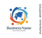 world community logo   Shutterstock .eps vector #604359101