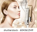 hydrating cream contained in... | Shutterstock .eps vector #604361549