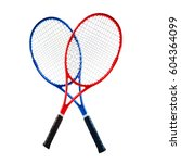 blue and red tennis rackets... | Shutterstock . vector #604364099