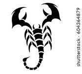 tribal vector scorpion tattoo... | Shutterstock .eps vector #604364879