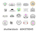 badge as part of the design  ... | Shutterstock .eps vector #604370045