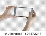 taking photo with mobile smart... | Shutterstock . vector #604372247